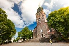 Catedral de Turku el día soleado Imagen de archivo