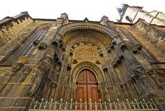 Catedral de Tyn de la fachada Foto de archivo