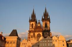 Catedral de Tyn en Praga Imagen de archivo libre de regalías