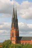 Catedral de Uppsala, Suecia Fotografía de archivo