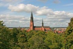 Catedral de Uppsala, Suecia Foto de archivo libre de regalías