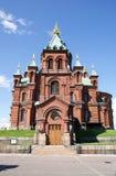 Catedral de Uspenski em Helsínquia fotografia de stock