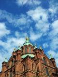 Catedral de Uspenski em Helsínquia, Finlandia Imagem de Stock Royalty Free