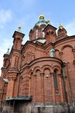 Catedral de Uspenski, Helsinki imagen de archivo libre de regalías