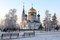 Catedral de Uspenskiy. Foto de archivo
