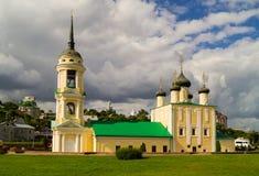 Catedral de Uspenskiy en el cuadrado del Ministerio de marina en la ciudad de Voron Fotografía de archivo libre de regalías