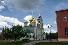 Catedral de Uspensky e a torre de Tula Kremlin Fotografia de Stock