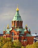 Catedral de Uspensky en Helsinki Construido 1868 Otoño foto de archivo