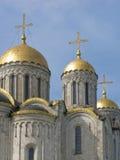 Catedral de Uspensky en la ciudad rusa Vladimir Fotos de archivo libres de regalías