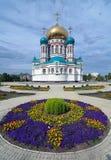 Catedral de Uspensky en Omsk, Rusia Imágenes de archivo libres de regalías