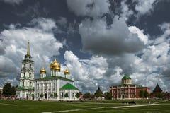 Catedral de Uspensky y la torre de Tula Kremlin Fotos de archivo