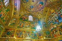 Catedral de Vank da visita em Isfahan, Irã Foto de Stock