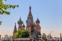 Catedral de Vasily Blessed foto de stock