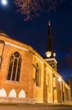 Catedral de Vasteras na noite do inverno Imagem de Stock Royalty Free