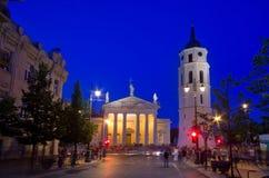 Catedral de Vilna imagenes de archivo