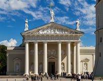 A catedral de Vilnius, Lituânia Imagens de Stock