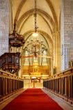Catedral de Visby em Gotland, Suécia imagens de stock