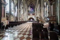 Catedral de visita do ` s de St Stephen em Viena, capital de Austria's Imagem de Stock