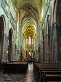 Catedral de Vitus de Saint da igreja em Praga Fotos de Stock Royalty Free