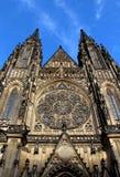 Catedral de Vitus del santo del castillo de Praga Foto de archivo libre de regalías