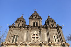 Catedral de Wangfujing Fotografía de archivo