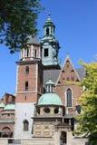 catedral de Wawel del siglo XIV en Kraków Foto de archivo libre de regalías