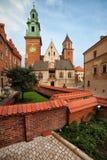 Catedral de Wawel en Kraków Imágenes de archivo libres de regalías