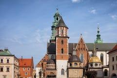 Catedral de Wawel en Kraków Foto de archivo libre de regalías