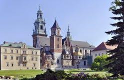 Catedral de Wawel en Kraków, Polonia Foto de archivo libre de regalías