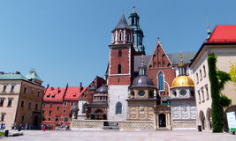 Catedral de Wawel en Kraków, Polonia imagenes de archivo