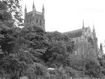 Catedral de Worcester imagenes de archivo