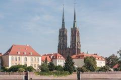 Catedral de Wroclaw dedicada a St John el Bautista Foto de archivo