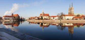Catedral de Wroclaw e igreja escolar Fotos de Stock