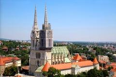 Catedral de Zagreb imágenes de archivo libres de regalías