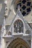 Catedral de Zagreb fotografía de archivo