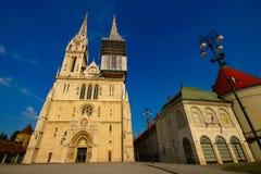 Catedral de Zagreb, Croacia fotografía de archivo