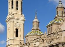 Catedral de Zaragoza Fotos de archivo