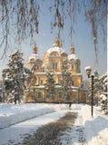 Catedral de Zenkov em Almaty, Cazaquistão Imagem de Stock