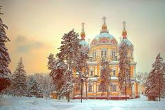 Catedral de Zenkov em Almaty, Cazaquistão Fotos de Stock Royalty Free