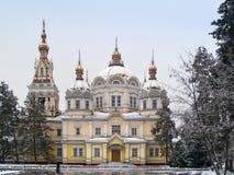Catedral de Zenkov en Almaty Imagenes de archivo