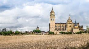 Catedral de圣玛丽亚de塞戈维亚,卡斯蒂利亚y利昂,西班牙 库存图片