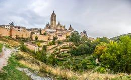 Catedral de圣玛丽亚de塞戈维亚,卡斯蒂利亚y利昂,西班牙 免版税库存图片