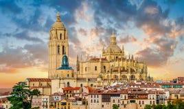 Catedral de圣玛丽亚de塞戈维亚,卡斯蒂利亚y利昂,西班牙 免版税库存照片