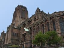 Catedral del anglicano de Liverpool Imagen de archivo libre de regalías