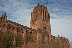 Catedral del anglicano de Liverpool Imágenes de archivo libres de regalías