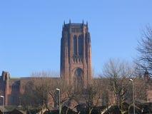 Catedral del anglicano de Liverpool fotos de archivo