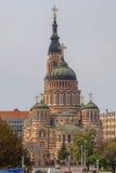 Catedral del anuncio en el estilo Neo-Bizantino-ruso en Kharkov Foto de archivo libre de regalías