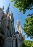 Catedral del aprendizaje y de Heinz Chapel en UPitt imágenes de archivo libres de regalías