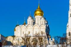 Catedral del arcángel de Moscú el Kremlin en el día de invierno Imágenes de archivo libres de regalías