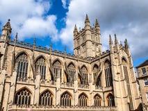 Catedral del baño, Somerset, Reino Unido Imagen de archivo libre de regalías